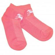 Trumpos sporto ir laisvalaikio kojinės rožinis Žirgas