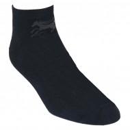 Gumuotais padais trumpos sporto ir laisvalaikio kojinės juodas Žirgas