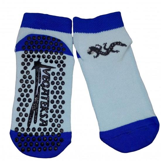 Gumuotais padais trumpos sporto ir laisvalaikio kojinės mėlynas Driežiukas