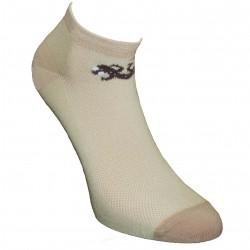 Gumuotais padais trumpos sporto ir laisvalaikio kojinės smėlio spalvos Driežiukas