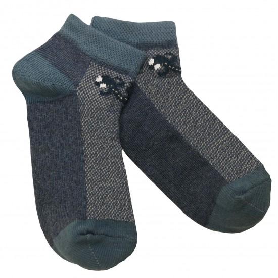 Gumuotais padais trumpos sporto ir laisvalaikio kojinės tamsaus džinso Driežiukas