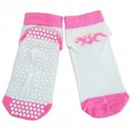 Gumuotais padais trumpos sporto ir laisvalaikio kojinės baltas rožinis Driežiukas