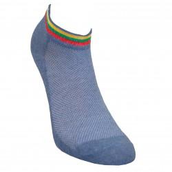Gumuotais padais trumpos sporto ir laisvalaikio kojinės džinso Vėliavėlė
