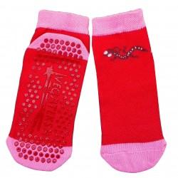 Gumuotais padais trumpos sporto ir laisvalaikio kojinės raudonas Driežiukas