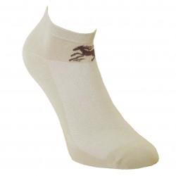 Gumuotais padais trumpos sporto ir laisvalaikio kojinės smėlio spalvos Žirgas