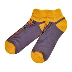 Trumpos mėlynos sportinės kojinės pliušiniu padu Užtrauktukas