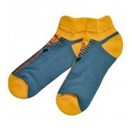 Trumpos blankiai mėlynos sportinės kojinės pliušiniu padu Užtrauktukas