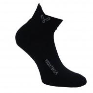 Trumpos juodos sportinės kojinės pliušiniu padu Vegateksa