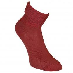 Šiltos vilnonės Ripe rašto kojinės Raudonų plytų spalva