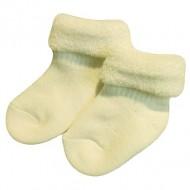Šiltos vilnos pliušo kojinės kūdikiams Gelsva