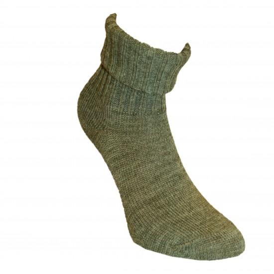 Šiltos vilnonės Ripe rašto kojinės Pilkos ir smėlio melanžas