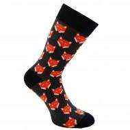 Spalvotos kojinės oranžinės Lapės