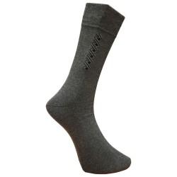 Vyriškos kojinės su rašteliu pilka Spiralė