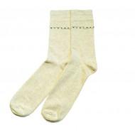 Vyriškos kojinės su rašteliu smėlio spalvos Juostos
