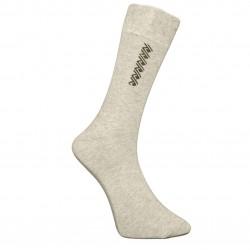 Vyriškos kojinės su rašteliu šviesiai pilka Spiralė