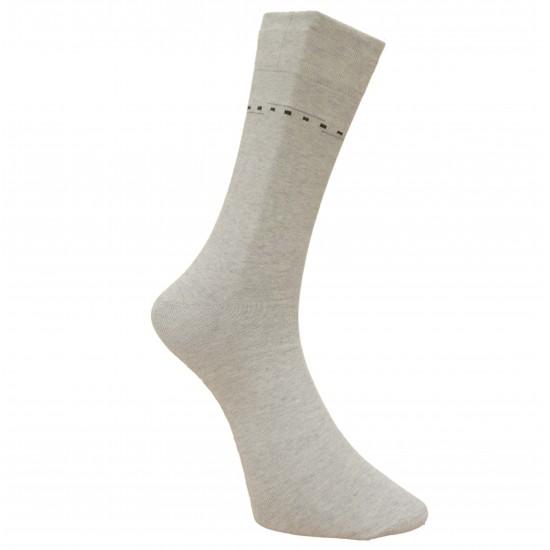 Vyriškos kojinės su rašteliu šviesiai pilkos Juostos