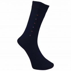 Vyriškos kojinės su rašteliu tamsiai mėlyni Taškai