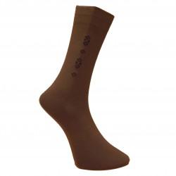 Vyriškos kojinės su rašteliu tamsiai rudi Rombukai