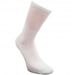 Nespaudžiančios blauzdų kojinės diabetikams pliušiniu padu Balta