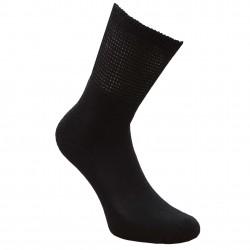 Nespaudžiančios blauzdų kojinės diabetikams pliušiniu padu Juoda