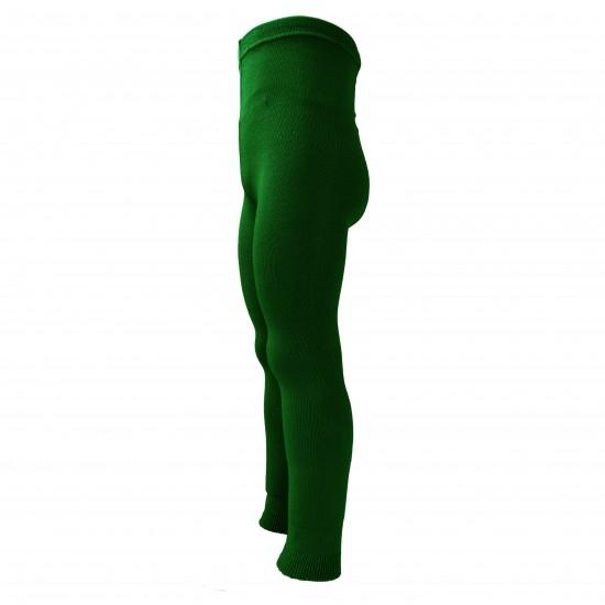 Žalios vienspalvės plonos tamprės vaikams Ryški samana