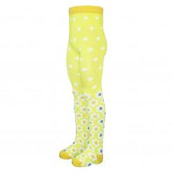 Gumuotais padukais pėdkelnės vaikams geltonos Mažos gėlės